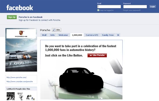 Porsche Reaches One Million Fans On Facebook