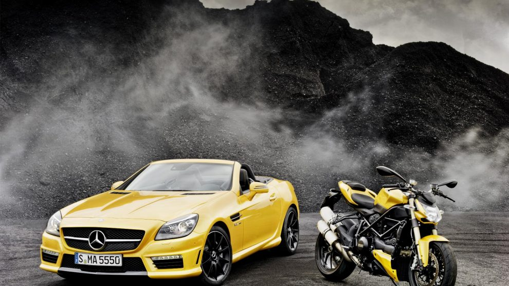 SLK 55 AMG and the Ducati Streetfighter
